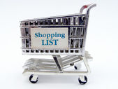 Shopping Cart Closeup — Foto Stock