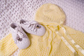Baby Shoes and Suit — Stock Photo