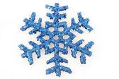 синий снежинки рожденственский орнамент — Стоковое фото