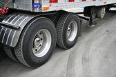 Transport truck tires — Stock Photo