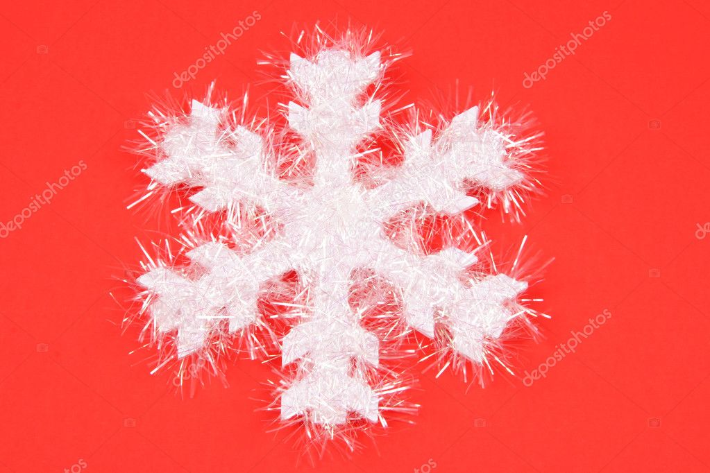 Red And White Snowflake Christmas Background White Snowflake on Red