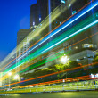 Nightscape Downtown with headlights trails — Stock Photo #10514894