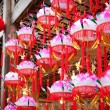 variety of colorful chinese paper lanterns — Stock Photo