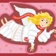 Stock Vector: Angel Love Cupid Girl