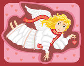 Angel Love Cupid Girl — Stock Vector