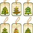 Vettoriale Stock : Set christmas tags