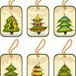 设置圣诞标签nastavit vánoční značky — Stock vektor