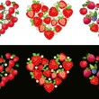 Heart Fruit Set — Stock Vector