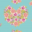 Seamless Rose Heart Background — Stockvectorbeeld
