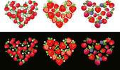 Heart Fruit Set — Stock Vector