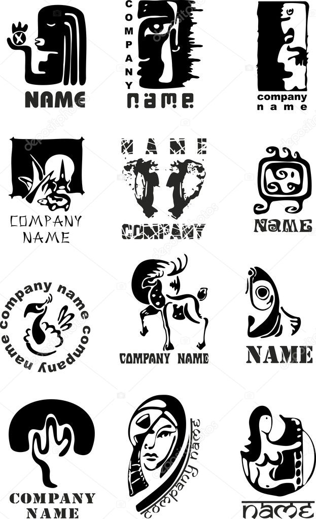 Set of template of logos for design — Stock Vector #9841738