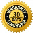 Warranty 30 days Quality Guarantee Badges — Stock Photo