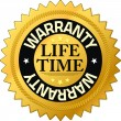 Stock Photo: Warranty lifetime Quality Guarantee Badges