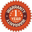 Stock Photo: Warranty 1 year Quality Guarantee Badges