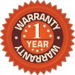 Warranty 1 year Quality Guarantee Badges - Stock Photo