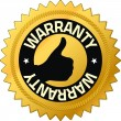 Warranty Quality Guarantee Badges — Stock Photo
