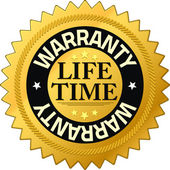 Warranty lifetime Quality Guarantee Badges — Stock Photo