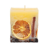 The decorative candle — Stock Photo