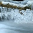 Close up of icicles — Stock Photo