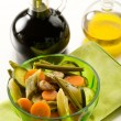 Steamed vegetables salad with balsamic vinegar — Stock Photo #10064484