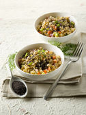 Risotto with poppy seed and carrots,healthy food — Stock Photo
