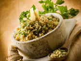 Risotto with ginger and parsley, healthy food — Stock Photo