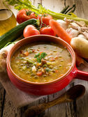 Soup vegetable-minestrone — Stock Photo