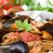 Royalty-Free Stock Photo: Pasta with mussel and tomato sauce