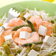 Healthy salad with soy sprout shrimp tofu and asparagus — Stock Photo #9448617