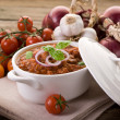 Ragout sauce on bowl — Stock Photo