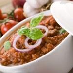 Ragout sauce on bowl — Stock Photo