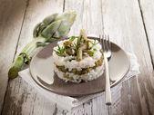 Risotto with artichokes — Stock Photo
