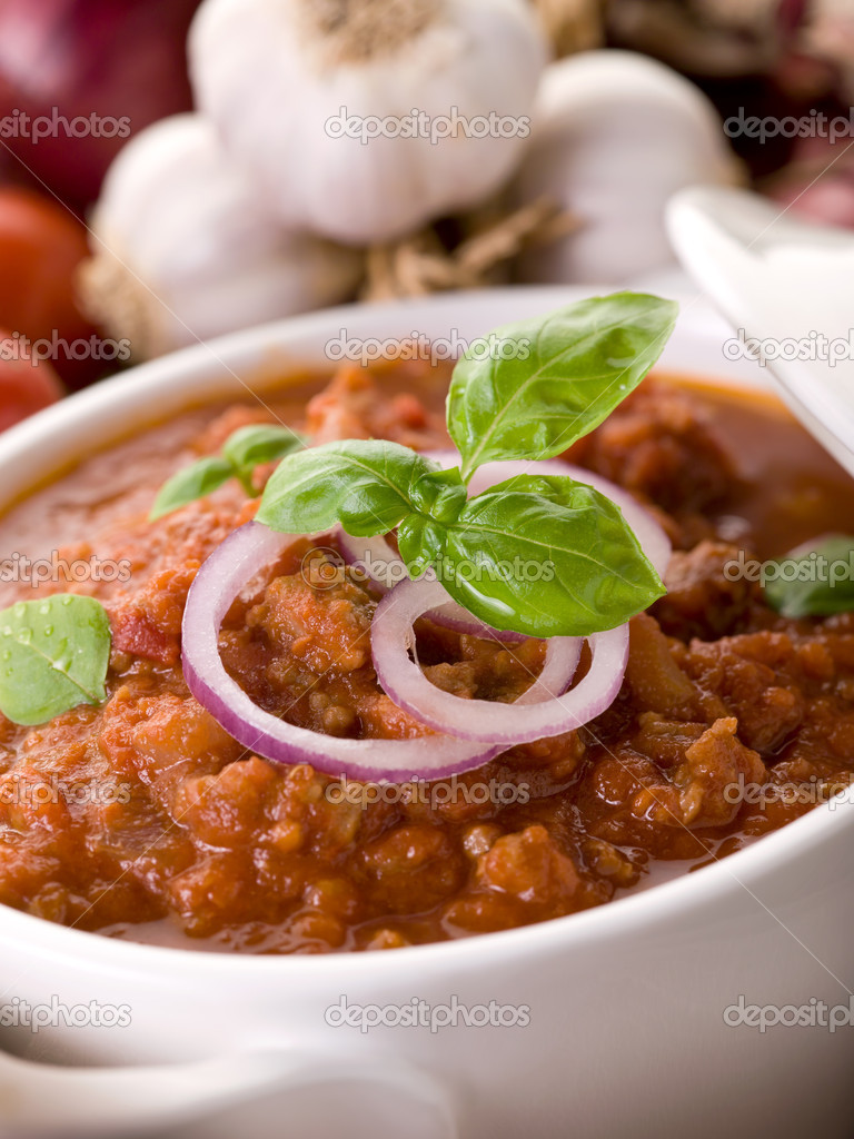 Ragout sauce on bowl — Stock Photo #9481024