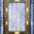 Royalty-Free Stock Photo: Golden frame on grunge background