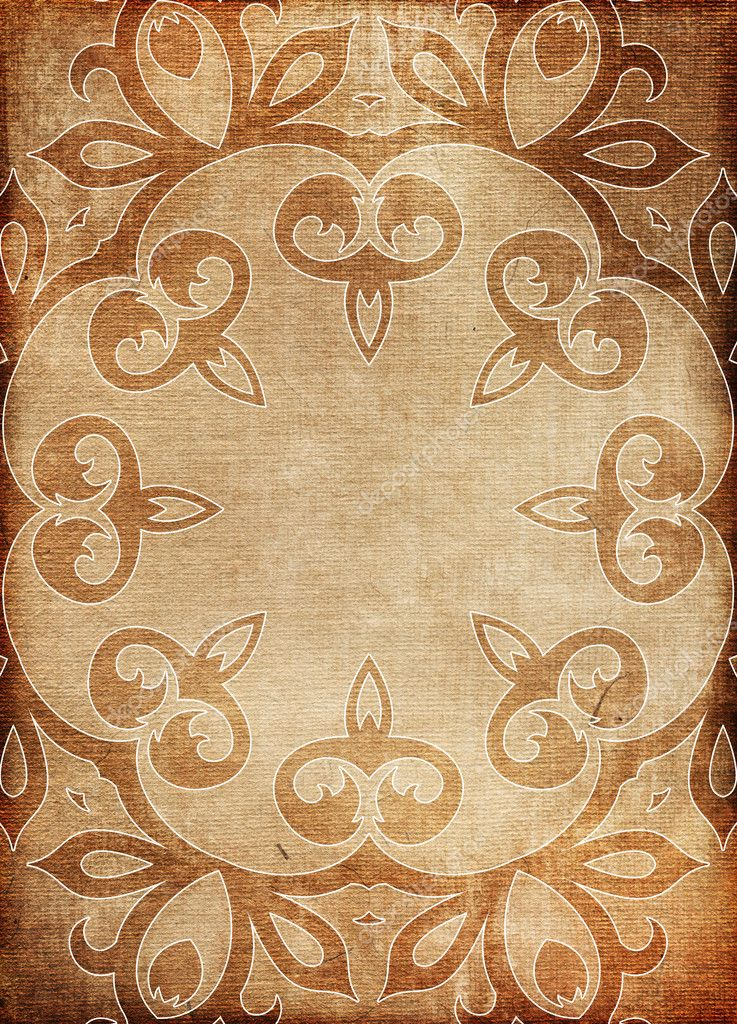 Old paper background with ornaments  — Foto Stock #8625787