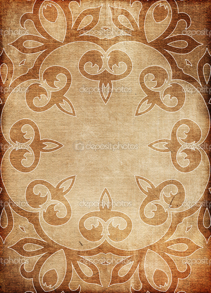 Old paper background with ornaments  — Stockfoto #8625787