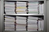 Many stacks of folders — Stock Photo