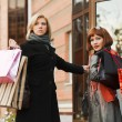 Two young women with shopping bags — Stock Photo #10708502