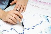 Stock market graphs — Stock Photo