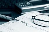 Burzovní zprávy analýzy — Stock fotografie