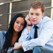 Stock Photo: Young couple in depression