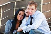 Jeune couple dans la dépression — Photo