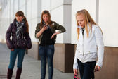 Teenage girl with a mobile phone — Stock fotografie