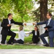 Young business in a city park — Stock Photo #8559964