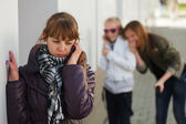 Teenage girl calling on the phone — Stock Photo