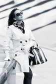 Beautiful woman in white — Stock Photo