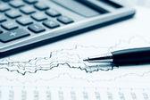 Financial graphs — Stock Photo
