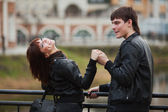 Happy young couple in love — ストック写真