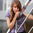 Foto Stock: Teenage girl looking away