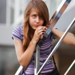 Stock Photo: Teenage girl looking away